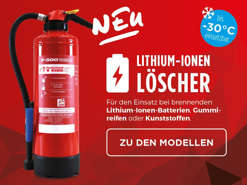 Lithium Ionen Feuerlöscher